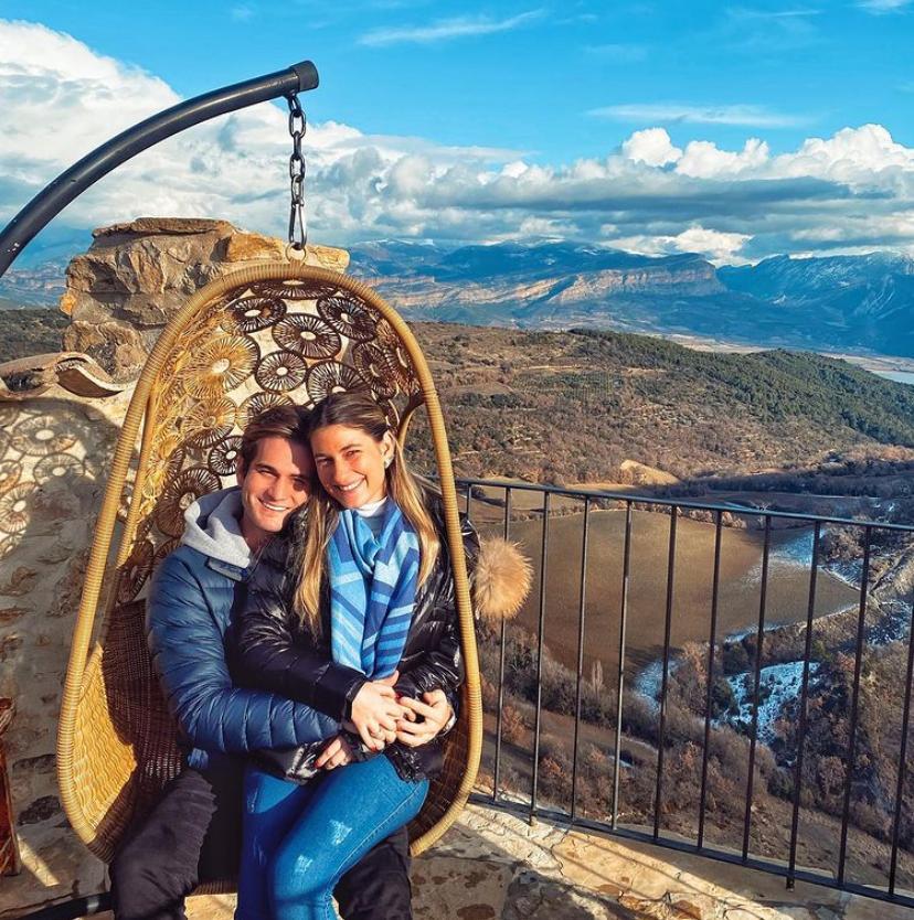 Bruna e Ravi Macêdo iniciam o ano na estação de ski Baqueira Beret