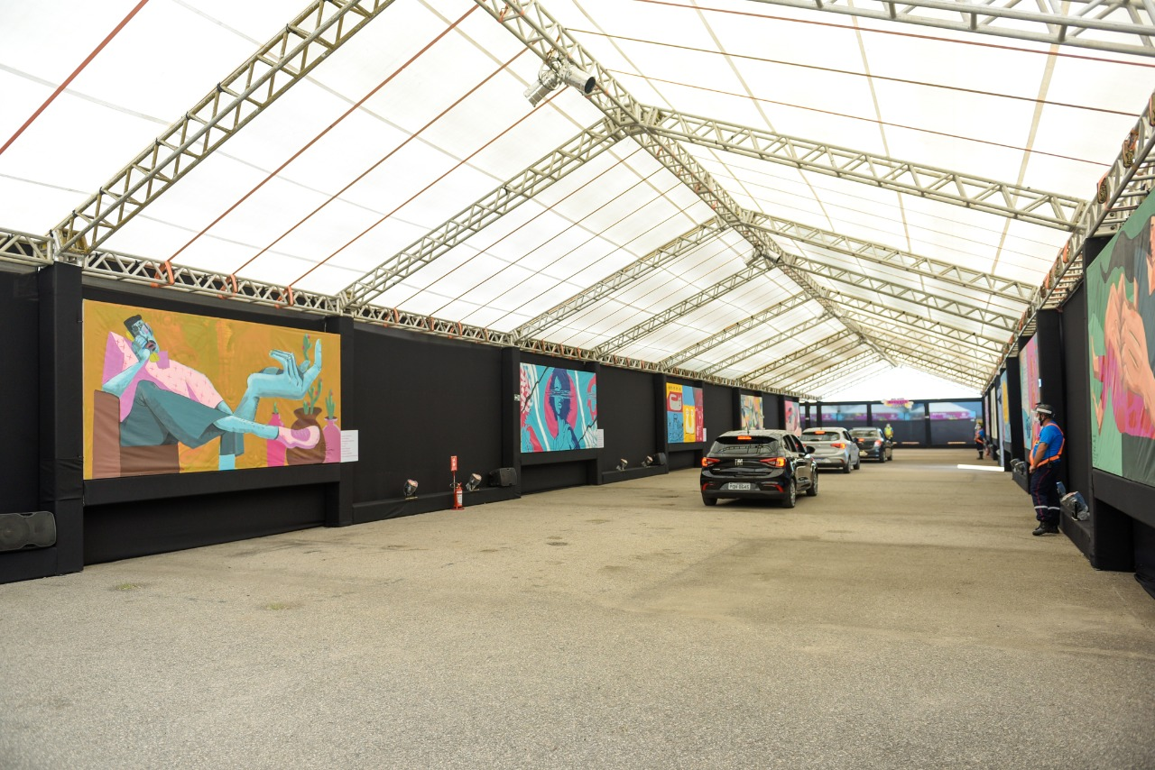 """Exposição """"Arte de rua mudando vidas"""" segue aberta ao público na Arena Castelão"""