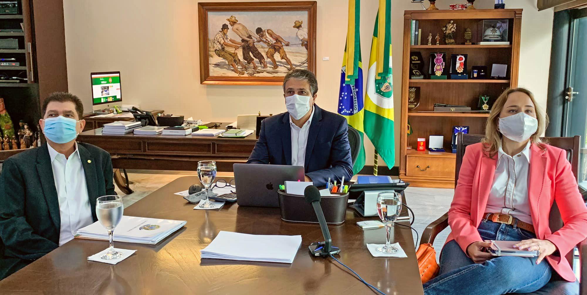 Camilo discute com os presidentes do Senado e da Câmara novas medidas de enfrentamento à pandemia de Covid-19