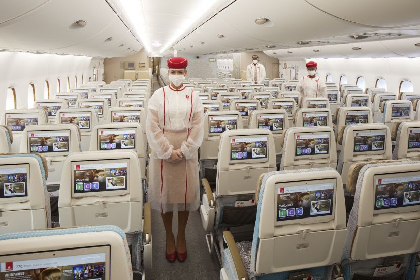 Voo especial da Emirates vai comemorar o sucesso da vacinação nos Emirados Árabes Unidos