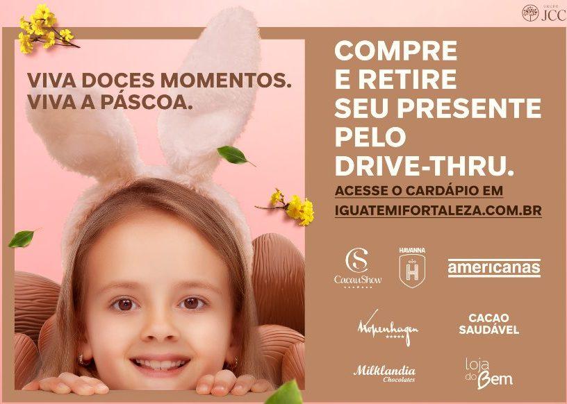 Iguatemi Fortaleza oferece drive thru a quem deseja comprar ovos de Páscoa
