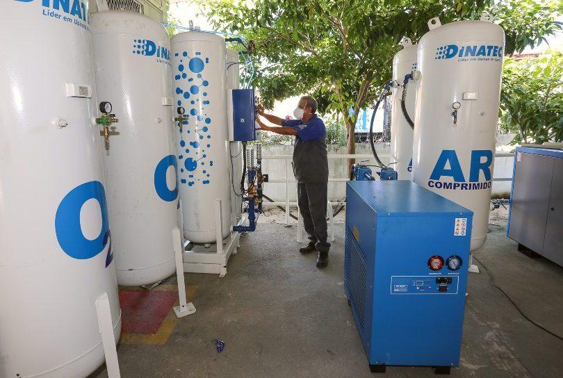 Prefeitura de Fortaleza está triplicando a produção de oxigênio medicinal nas três usinas instaladas em UPAs da Capital