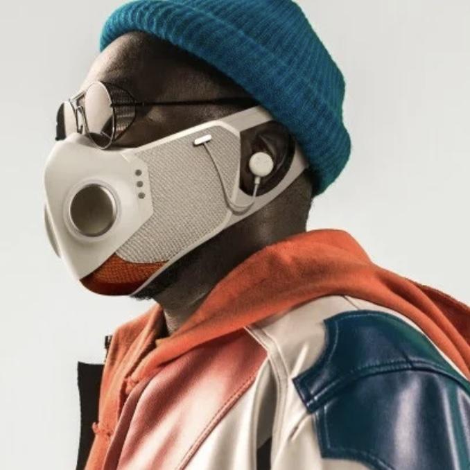 Will.i.am desenvolve máscara altamente tecnológica