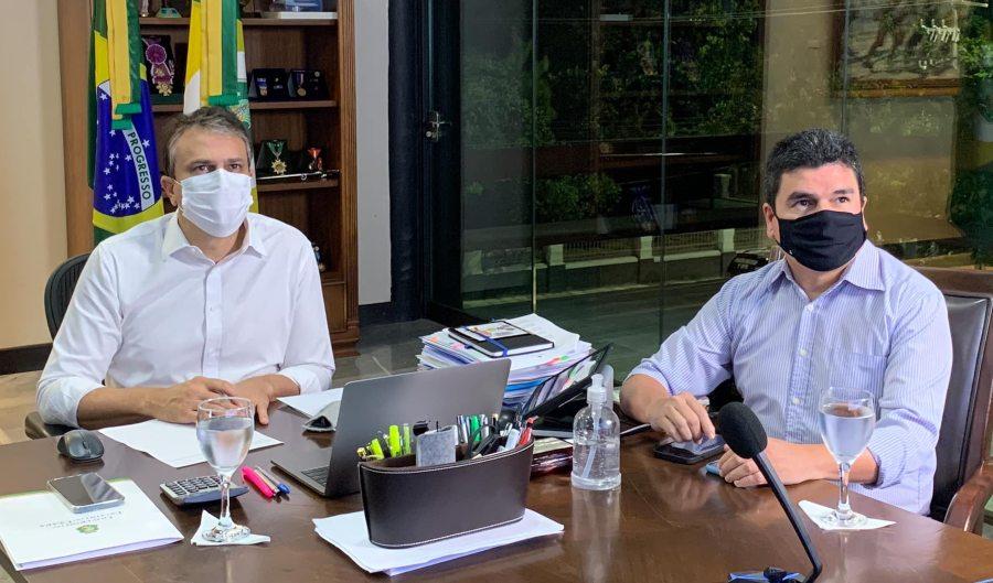 Presidente da White Martins garante a Camilo Santana que não vai acontecer desabastecimento de oxigênio no Ceará