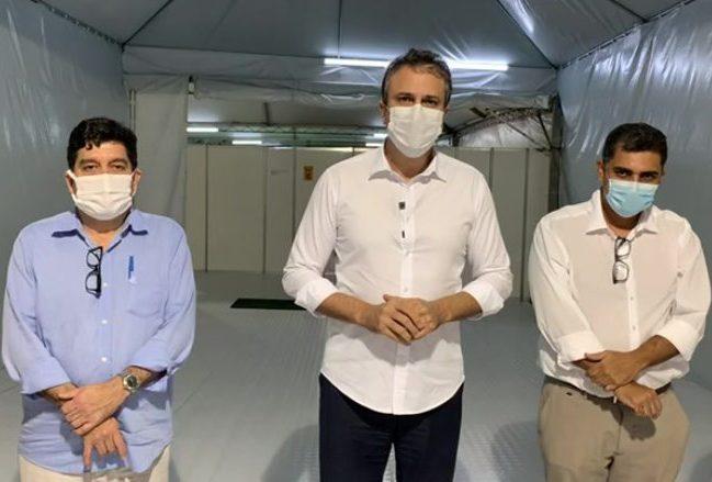 Camilo entrega hospital de campanha anexo ao HRC para ampliar a capacidade de atendimento a pacientes com Covid