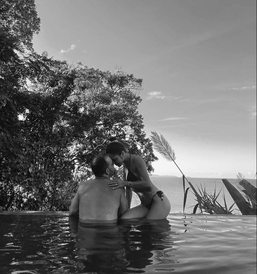 Ivo Machado e Fernanda Franco curtem o feriadão em Florianópolis