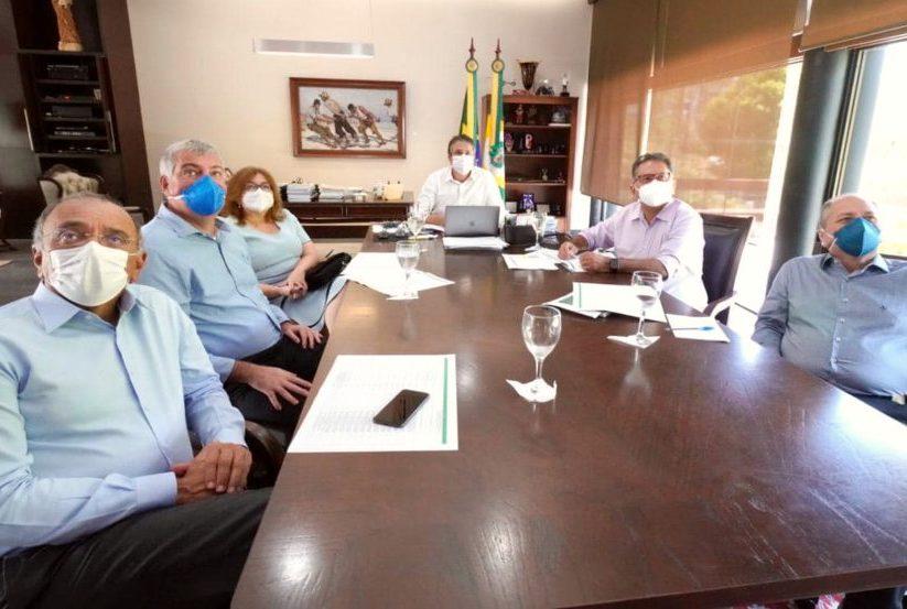 Camilo discute a pandemia no País e recebe nova presidente da Enel no Ceará