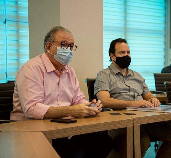 Ricardo Cavalcante apresenta projeto do Hub de Hidrogênio a Igor Queiroz Barroso