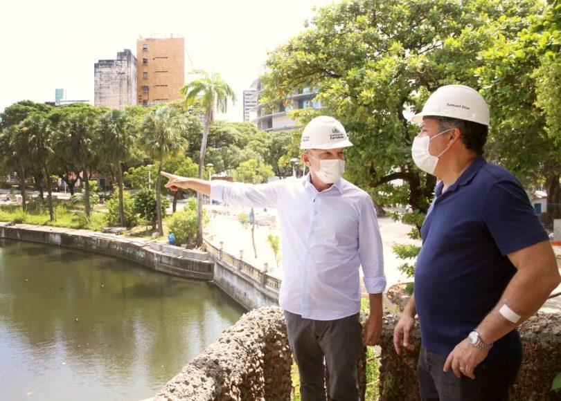José Sarto vistoria obras importantes situadas na área central de Fortaleza
