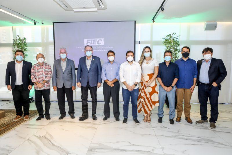 pandemia e desenvolvimento - Ricardo Cavalcante recebe o presidente da AL, Evandro Leitão, e comitiva de parlamentares na FIEC