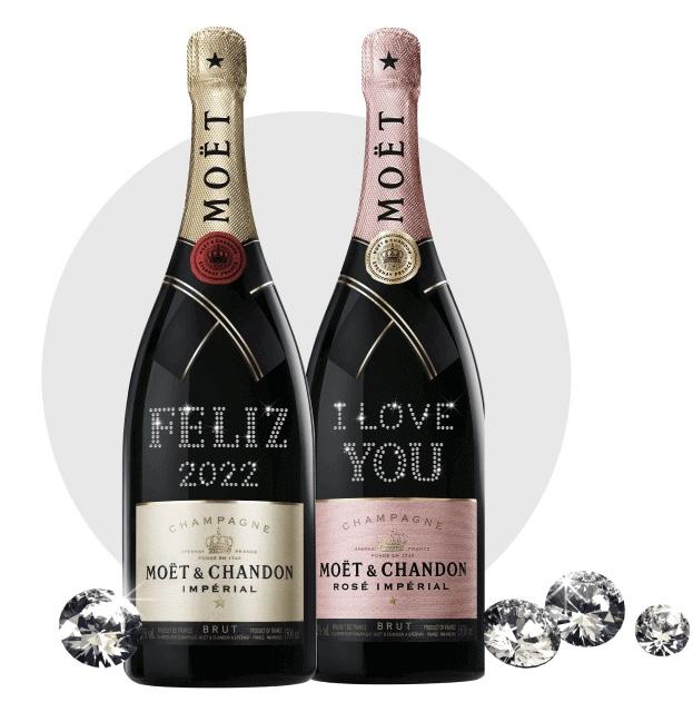 Moët & Chandon aposta em linha de garrafas personalizadas com cristais Swarovski
