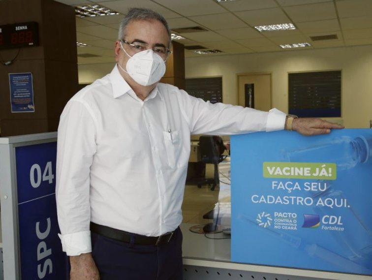 CDL de Fortaleza inicia campanha para ampliar o cadastramento da vacinação