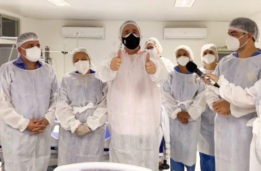 Bismarck Maia comemora não haver pacientes com Covid internados no HMED
