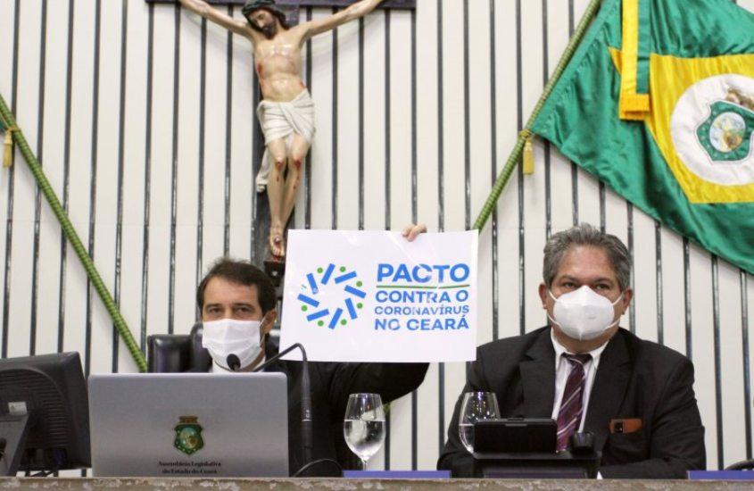 Evandro Leitão crê no esforço coletivo para combater a pandemia de Covid-19