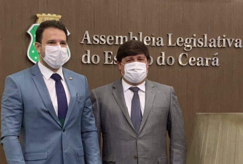 Deputado George Lima recebe vereador na Assembleia Legislativa e destaca a construção do Hub de Hidrogênio Verde