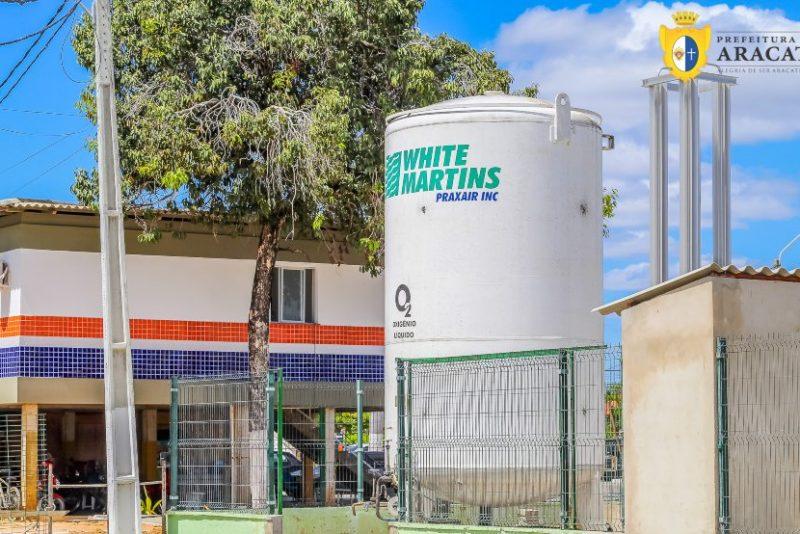 HMED de Aracati ganha tanque especial para armazenar o oxigênio hospitalar