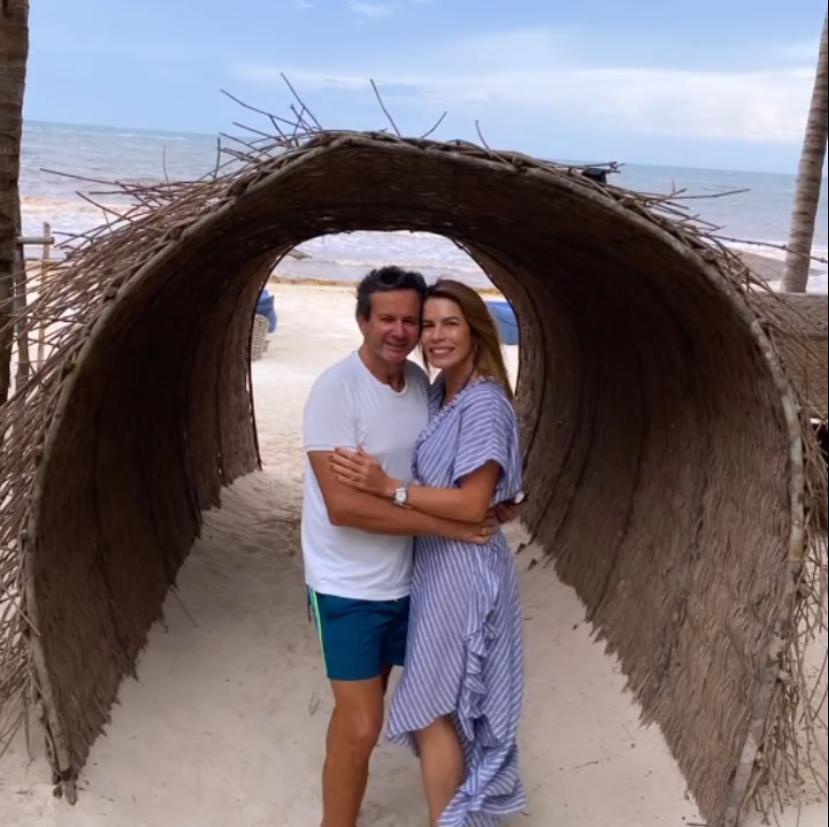 Maira e Aderaldo Silva aproveitam temporada de férias em Tulum