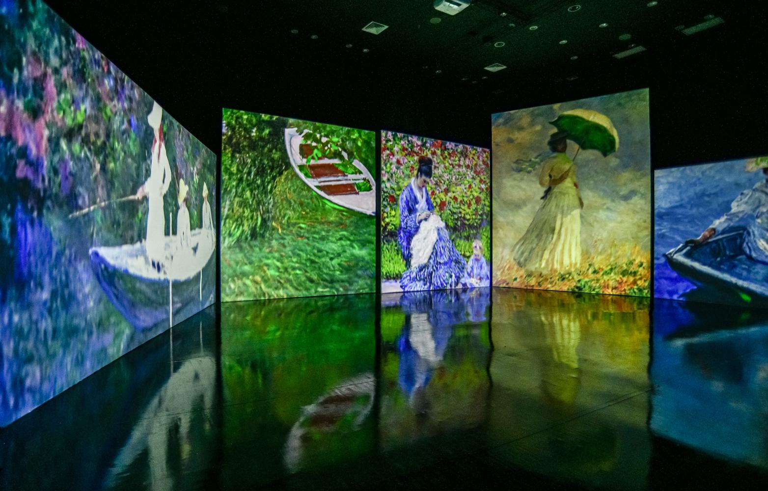 Mostra interativa sobre Claude Monet está em cartaz no Shopping Pátio Higienópolis