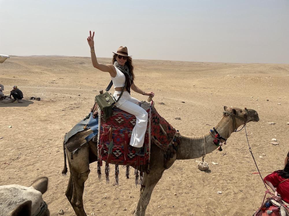 Marília Quintão, Passeio De Camelo, Em Gizé
