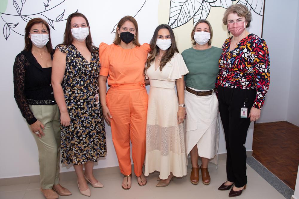 Sandra Borges, Judith Caetano, Silvana Fialho, Adriana Queiroz, Ester Jorge E Shirley Bruno