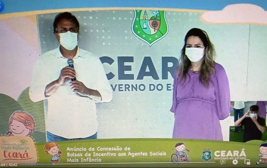 Camilo e Onélia Santana anunciam bolsas de incentivo para os 184 novos agentes sociais do Programa Mais Infância Ceará
