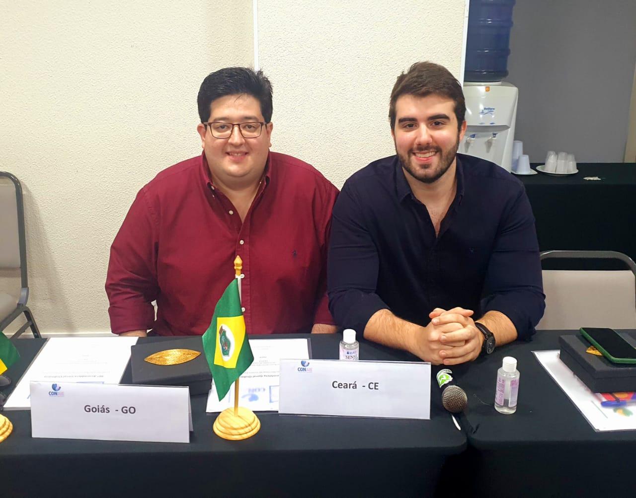 Principais lideranças de jovens empresários do Ceará, Yuri Toquato (FAJECE) e Igor Pinheiro (AJE) participam de Assembleia Nacional em Palmas