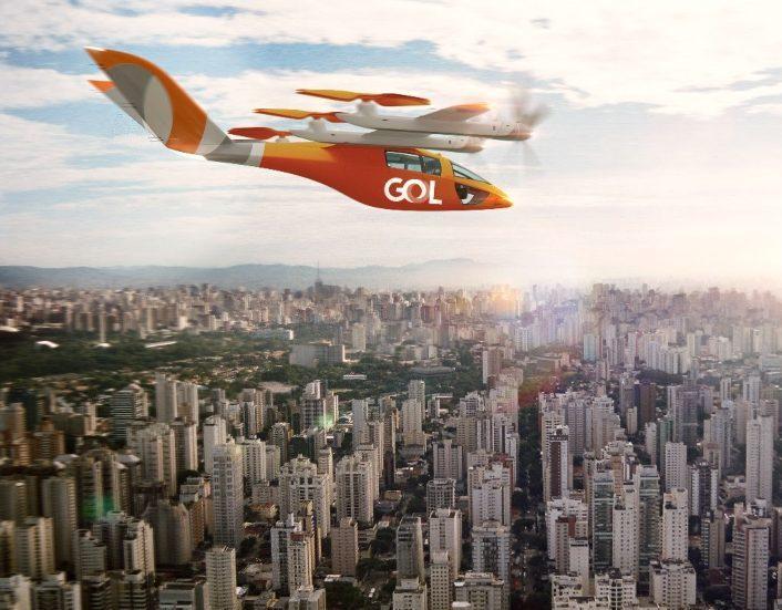 Gol lançará malha aérea doméstica com 250 aeronaves do tipo eVTOL até 2025