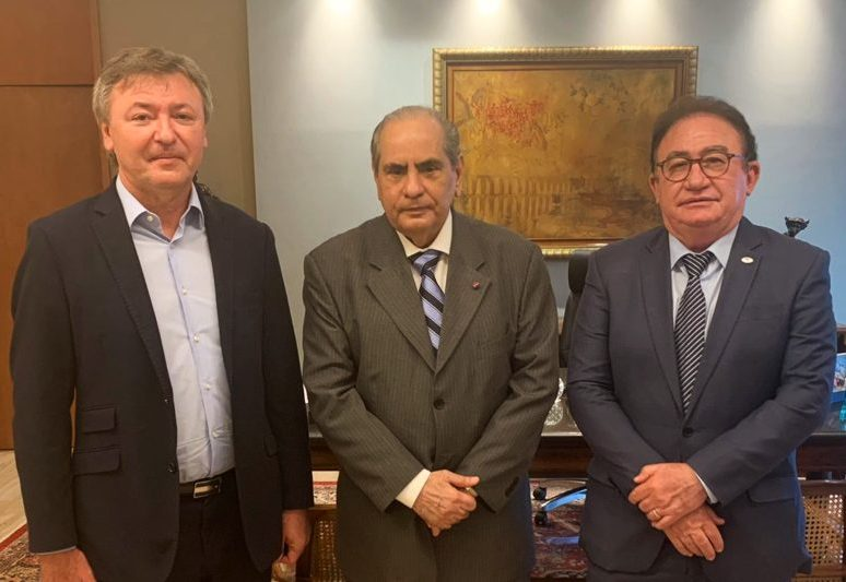 Maurício Filizola e Manoel Linhares vão ao DF convidar o presidente a CNC para aniversário da ABIH Nacional e Conotel