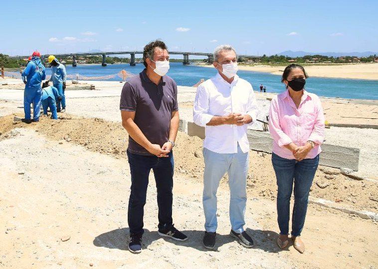 José Sarto e Samuel Dias vistoriam o ritmo das obras do Projeto Beira Rio