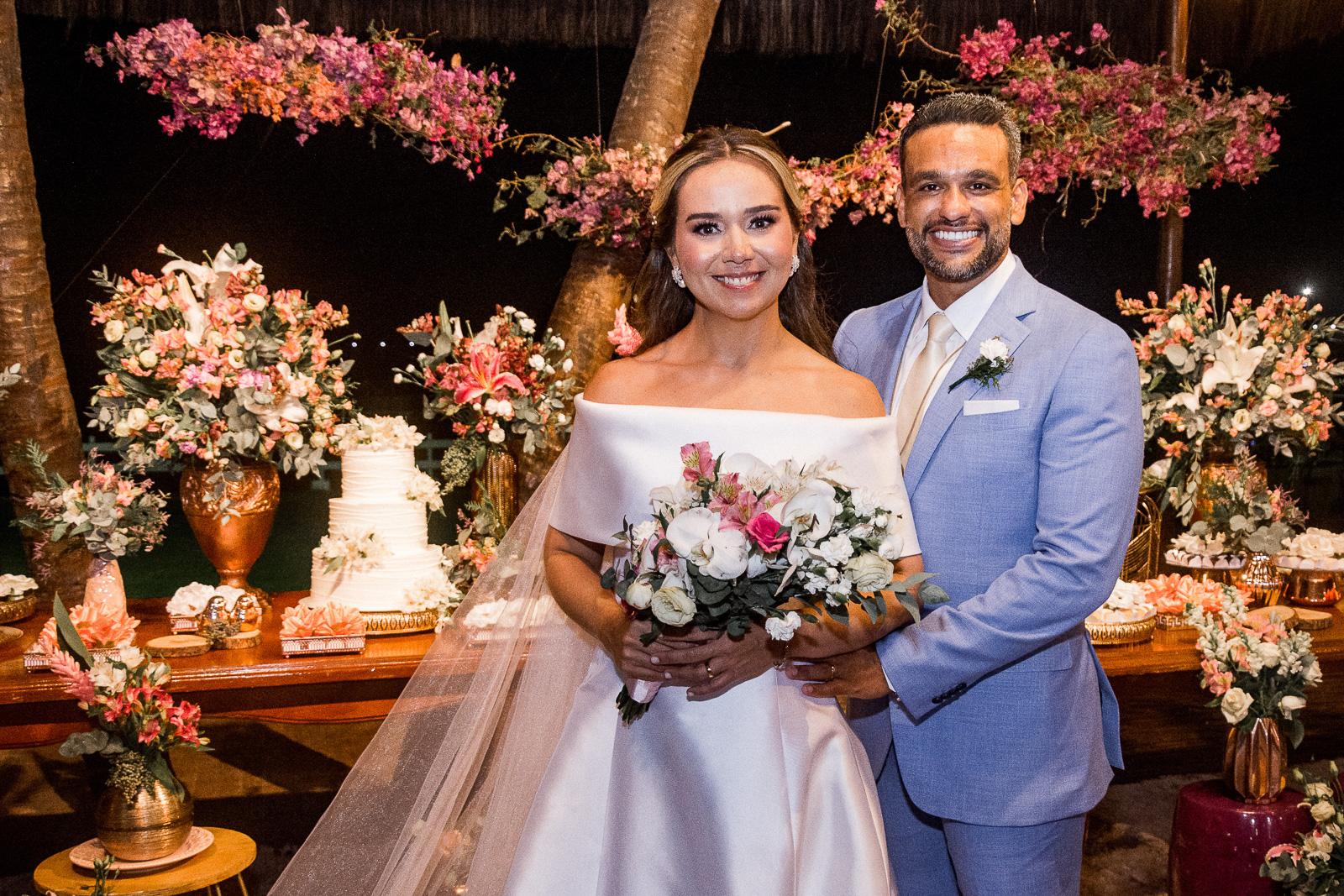 O Iate Clube foi cenário da festa de casamento de João Luiz Ferreira e Ticiana Ribeiro