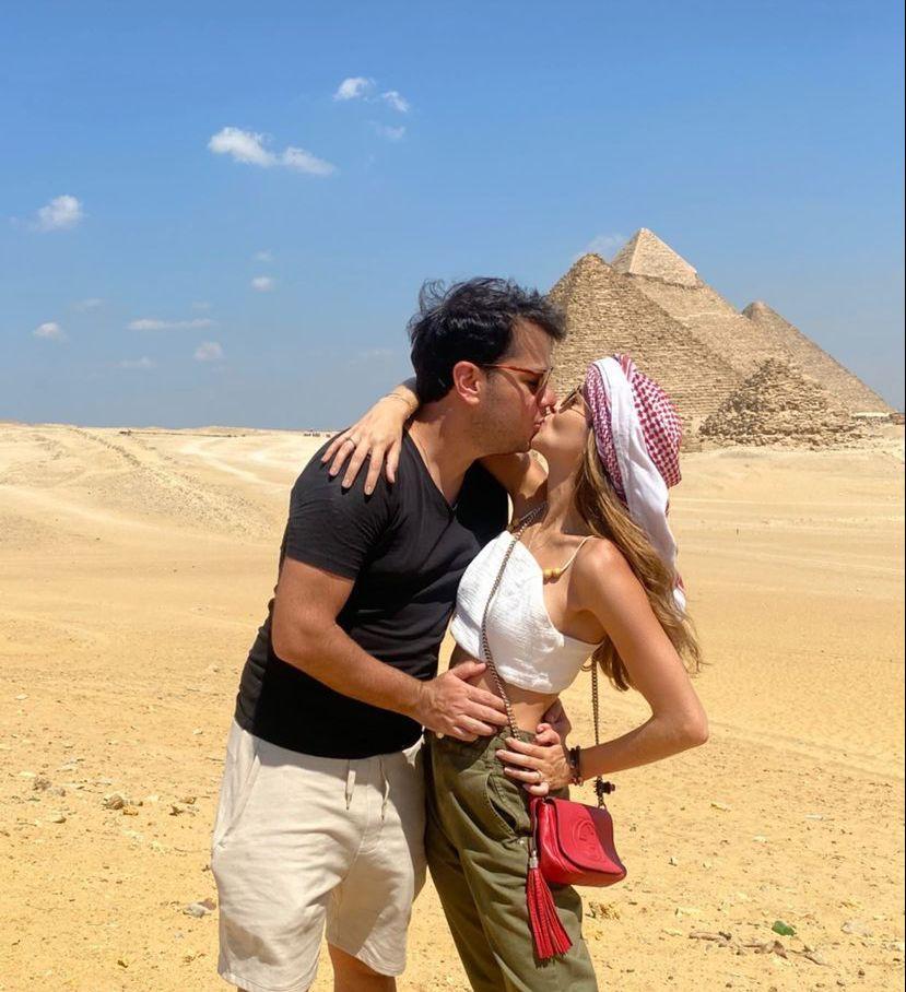 Marina Brasil e Ronaldo Aguiar elegem o Egito para temporada de honeymoon