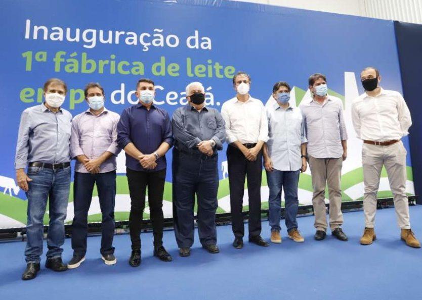 Cid Gomes e Camilo Santana destacam a inauguração de fábrica de leite em pó