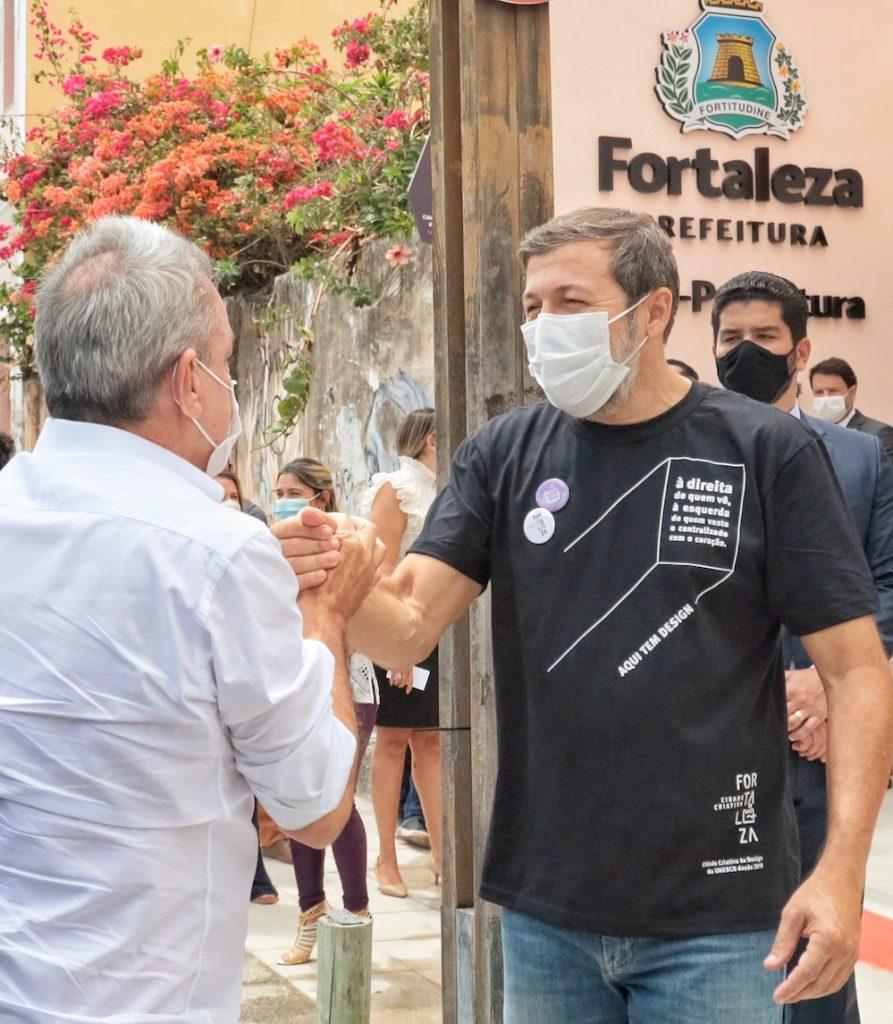 Élcio Batista Recebendo Sarto Nogueira Na Inauguração Da Vice Prefeitura