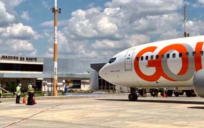 Camilo anuncia retomada de voos da Gol entre Fortaleza e Juazeiro do Norte