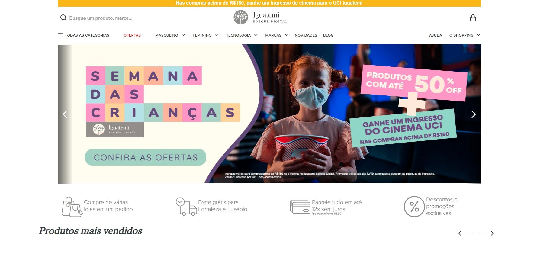 Iguatemi Bosque Digital tem ofertas durante a semana das crianças. Vem saber!