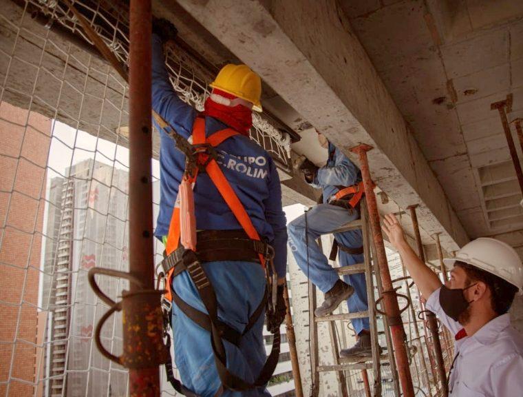 Sesi Ceará desenvolve rede de proteção coletiva para construção de edifícios
